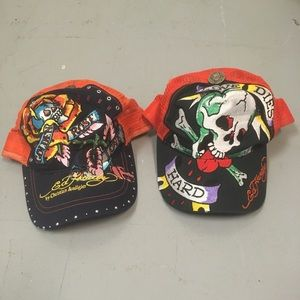 2 Ed Hardy baseball hats, new
